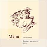 Restaurant menu design. Vector available stock illustration