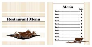 Restaurant menu design. Witn vegetables Stock Photos