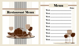 Restaurant menu design Stock Image