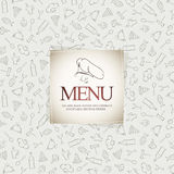 Restaurant menu design. With food icons background Royalty Free Stock Photo