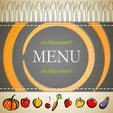 Restaurant menu design Stock Photos