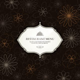 Restaurant menu design Stock Photography