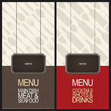 Restaurant menu design Royalty Free Stock Photos