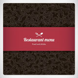 Restaurant menu design Royalty Free Stock Images