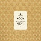 Restaurant menu design Stock Image