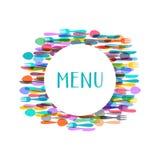Restaurant menu design Royalty Free Stock Photography