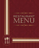 Restaurant menu design cover template in retro style 02 Royalty Free Stock Image