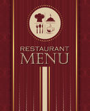 Restaurant menu design cover template in retro style 04 Stock Images