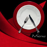 Restaurant Menu Design Stock Images