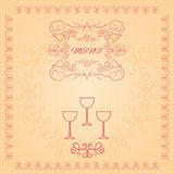 Restaurant menu design  eps 10 illustration Royalty Free Stock Photo