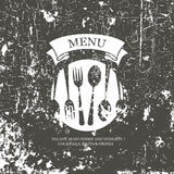 Restaurant menu design. Grunge style Stock Images