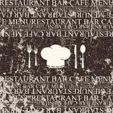 Restaurant menu design. Grunge style. Menu for restaurant, cafe and bar Stock Photography