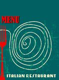 Restaurant menu design, Royalty Free Stock Images