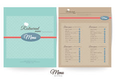 Restaurant menu design,Pastel (color) Royalty Free Stock Photos