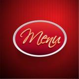 Restaurant Menu Design Red Stock Photo