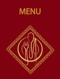 Restaurant menu design with red background-2 Royalty Free Stock Images