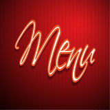 Restaurant menu design red Stock Image