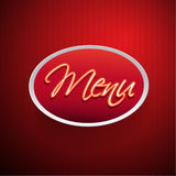 Restaurant menu design red Stock Photo
