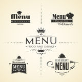 Restaurant menu design sets Stock Photos
