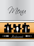Restaurant menu design - template brochure Royalty Free Stock Images