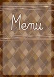 Restaurant menu design template Stock Photography