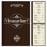 Restaurant menu design template - vector Stock Image