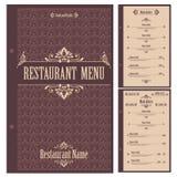 Restaurant menu design template - vector Stock Photos