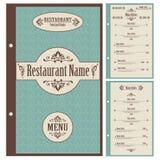 Restaurant menu design template - vector Stock Images