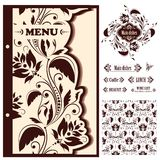 Restaurant menu design template - vector Royalty Free Stock Photos