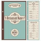 Restaurant menu design template - vector Stock Photography
