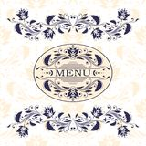 Restaurant menu design template - vector Royalty Free Stock Photography