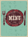 Restaurant menu design. Typographical retro poster. Vector illustration. Stock Image