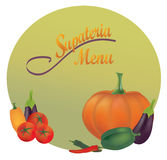 Restaurant Menu Design. Vector Cover of a Bistro Stock Photos