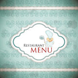 Restaurant menu design in vintage style Stock Photo