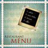Restaurant menu design in vintage style Royalty Free Stock Image