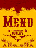 Restaurant menu design - western style Royalty Free Stock Photo