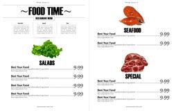 Restaurant menu design Stock Photography