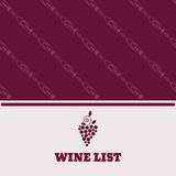 Restaurant menu design wine list flyer poster eps 10 Royalty Free Stock Photo