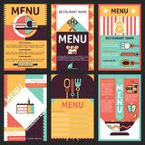 Restaurant menu designs Stock Image