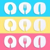 Restaurant menu designs Stock Images