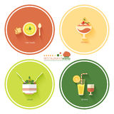 Restaurant menu designs Stock Photography