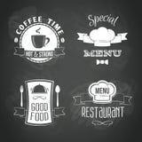 Restaurant menu emblems set Royalty Free Stock Image