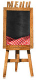 Restaurant Menu - Empty Blackboard on a Easel Stock Photos