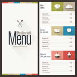 Restaurant menu. Flat design Stock Image