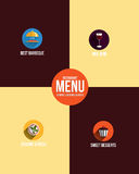 Restaurant menu. Flat design vector illustration