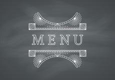 Restaurant Menu Headline with Chalkboard Royalty Free Stock Image