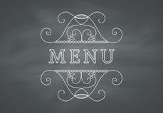 Restaurant Menu Headline with Chalkboard Royalty Free Stock Photo