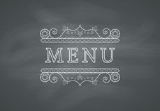 Restaurant Menu Headline with Chalkboard Stock Images