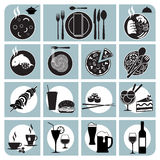 Restaurant menu icons Royalty Free Stock Image