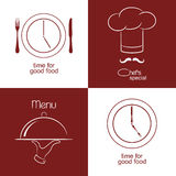 Restaurant menu icons Royalty Free Stock Photography